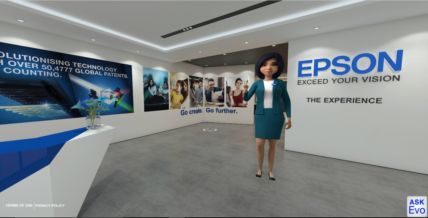 EPSON Virtual Showroom - Virtual host
