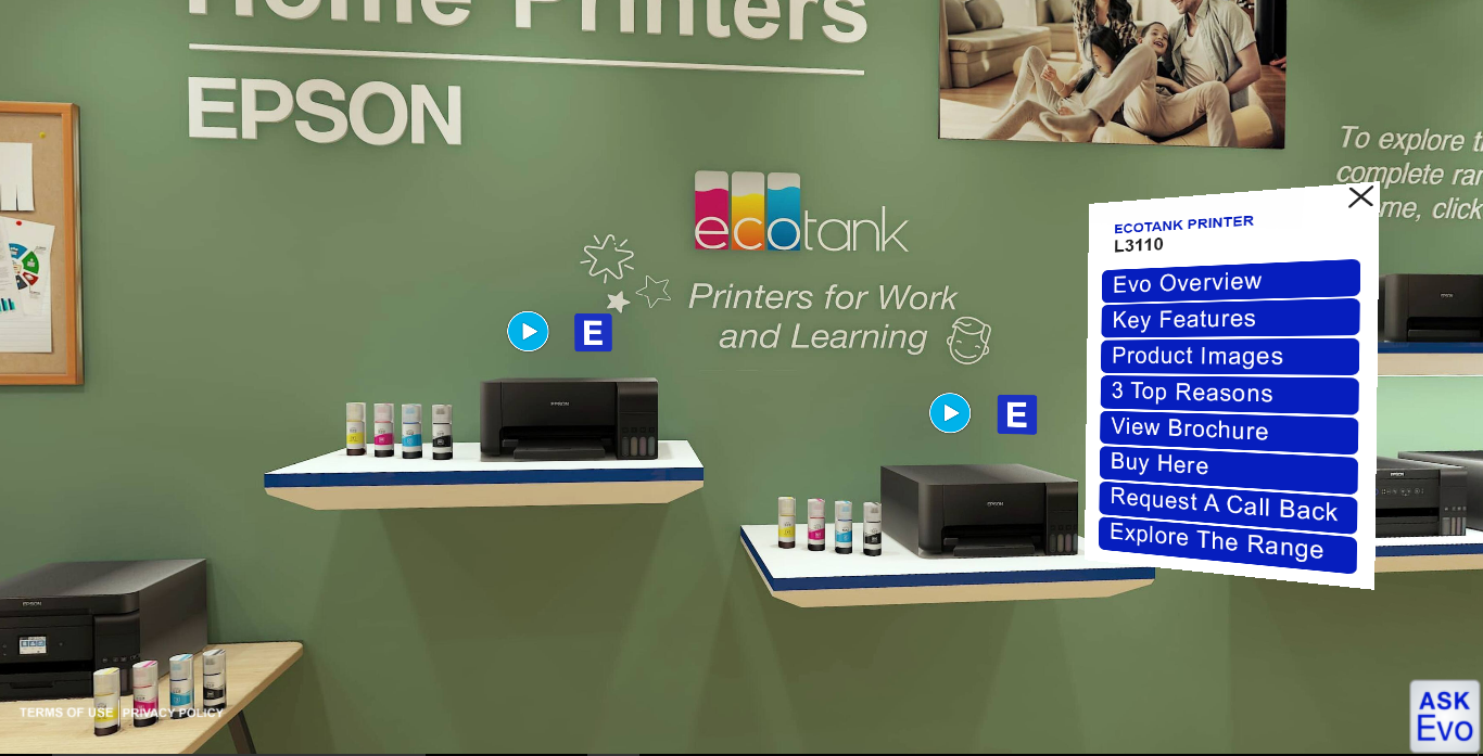EPSON Virtual printers display