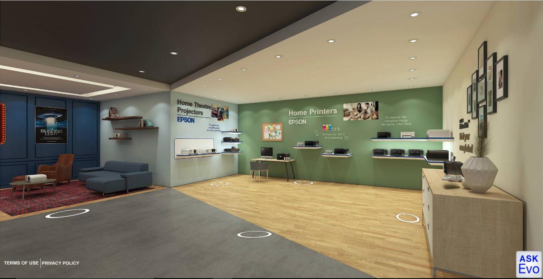 EPSON Virtual showroom navigation